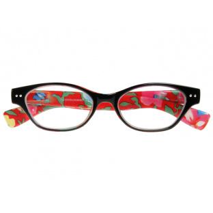 Reading Glasses 'Audrey' Black/Orange