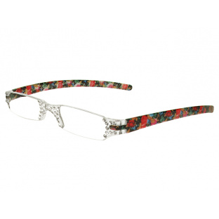 Reading Glasses 'Quartet' Blue/Pink Floral