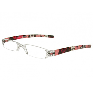 Reading Glasses 'Quartet' Red/Pink Floral