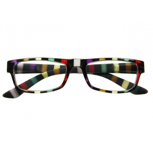 Reading Glasses 'Allsorts' Black/Multi-Stripe