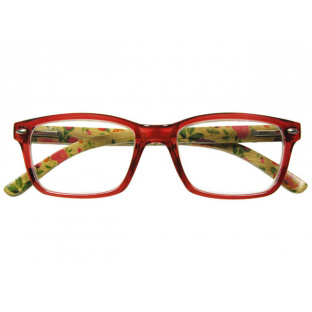 Natural Bamboo Readers 'Eva' Red