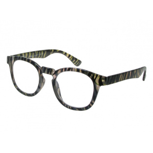 Reading Glasses 'Kitty' Grey Zebra