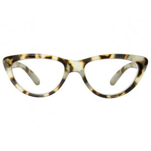 Reading Glasses 'Cleo' White Tortoiseshell