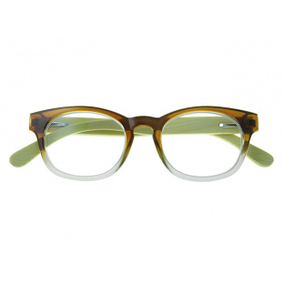 Natural Bamboo Readers 'Picadilly' Brown/Clear