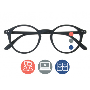 Progressive Reading Glasses 'Sydney Multi-Focus' Black