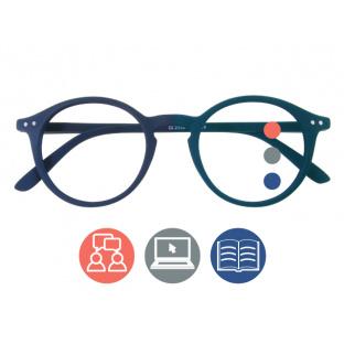 Progressive Reading Glasses 'Sydney Multi-Focus' Navy Blue