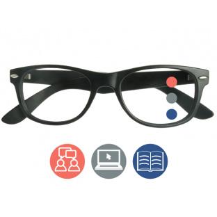 Progressive Reading Glasses 'Billi Multi-Focus' Matt Black