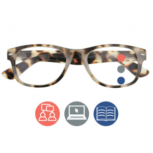 Progressive Reading Glasses 'Billi Multi-Focus' White Tortoiseshell