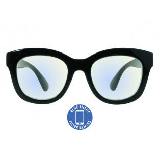Blue Light Non-Prescription Glasses 'Encore' Shiny Black