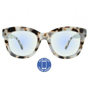 Blue Light Non-Prescription Glasses 'Encore' White Tortoiseshell