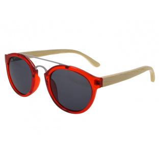 Sunglasses Polarised 'Tokyo' Red/Bamboo