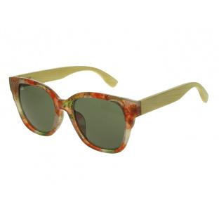 Sunglasses Polarised 'Carmen' Red Multi/Bamboo