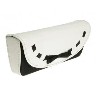Glasses Case 'Bow Design' White