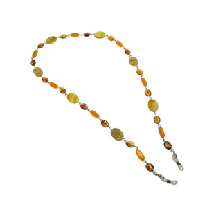 Glasses Chain 'Natural Shell Oval' Amber/Yellow
