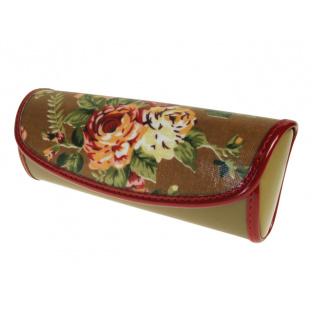 Glasses Case 'Vintage Rose' Brown