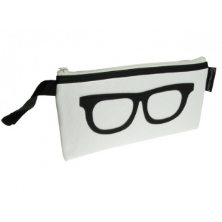 Glasses Case 'Geeky Retro' White