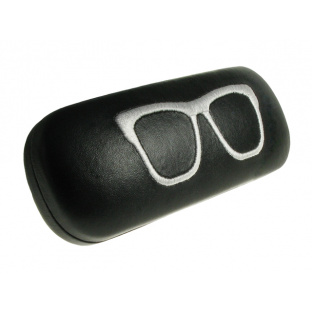 Glasses Case 'Stitched Geeky' Black