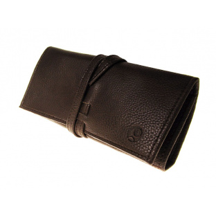 Glasses Case 'Tassle' with Cloth and Screwdriver Brown