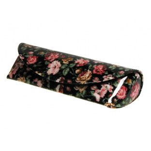 Glasses Case 'Antique Floral' Black