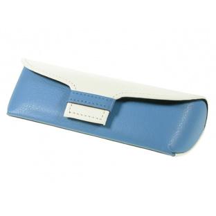Glasses Case 'Two Tone' Blue/White