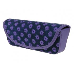 Glasses Case 'Daisy Denim' Purple