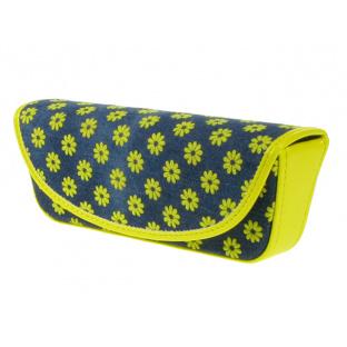 Glasses Case 'Daisy Denim' Yellow