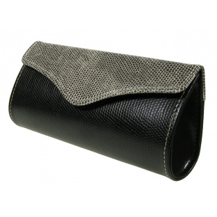 Glasses Case 'Purse Two-Tone' Black/Grey