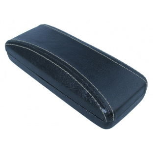 Glasses Case 'Aged Leather Look Stitched' Black