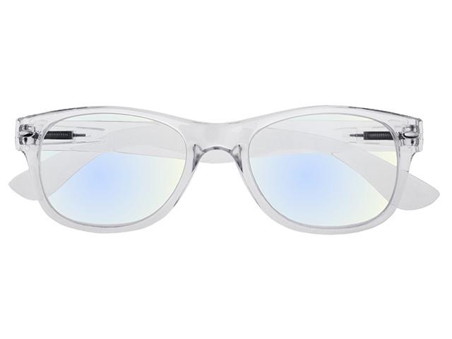 Goodlookers Blue Light Reading Glasses 'Billi' Transparent Front View