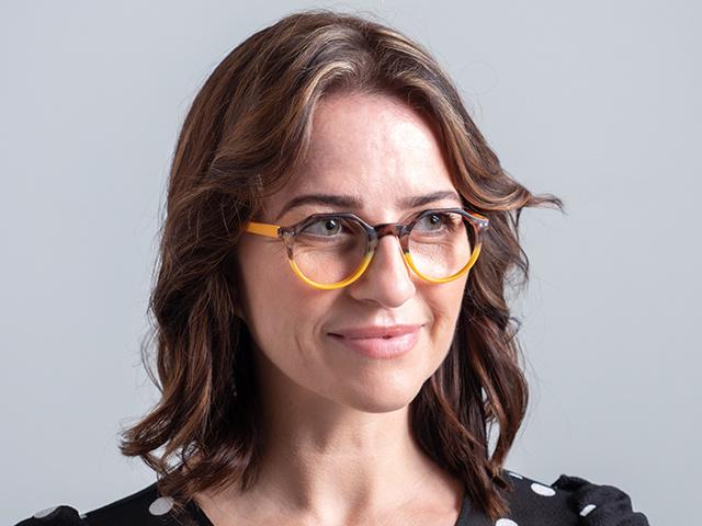 Reading Glasses 'Keaton' Tortoiseshell/Mustard