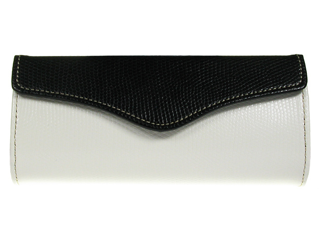 Purse Two Tone White Front