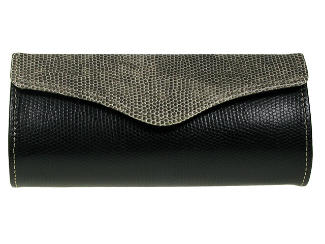 Purse Two Tone Grey Front