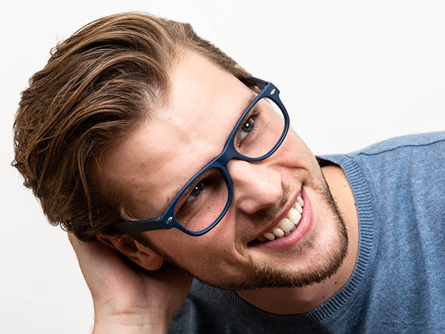 Reading Glasses 'Billi' Matt Blue