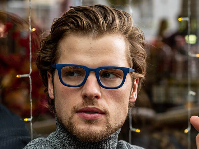 Reading Glasses 'Burbank' Matt Blue
