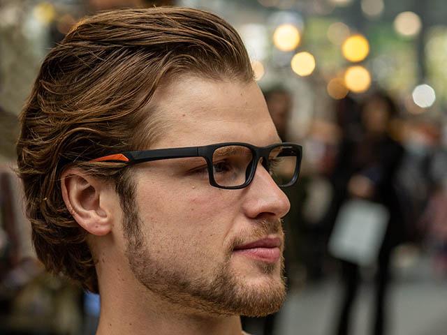 Reading Glasses 'Joshua' Black/Orange