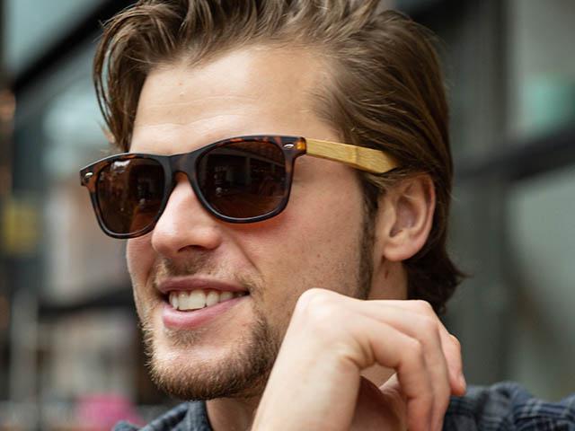Sunglasses Polarised 'Ash' Tortoiseshell/Bamboo