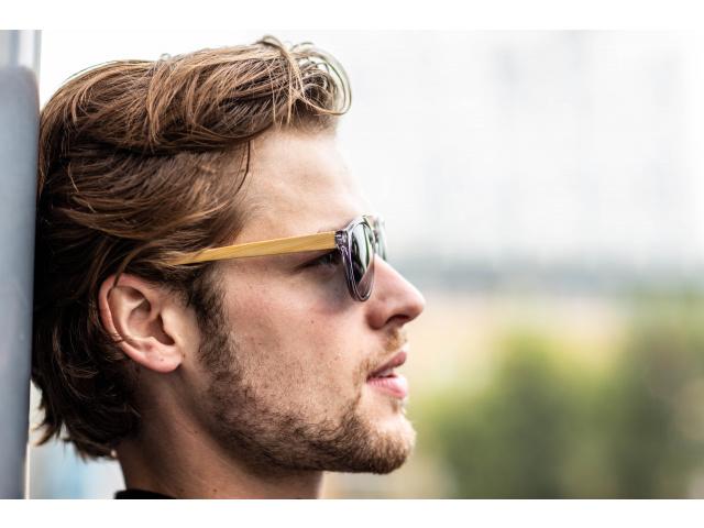 Sunglasses Polarised 'Tokyo' Grey/Bamboo