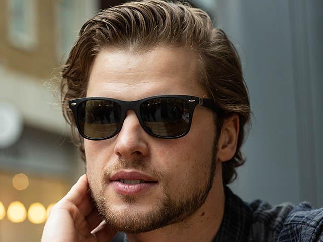 Sunglasses Polarised 'Regan' Matt Black