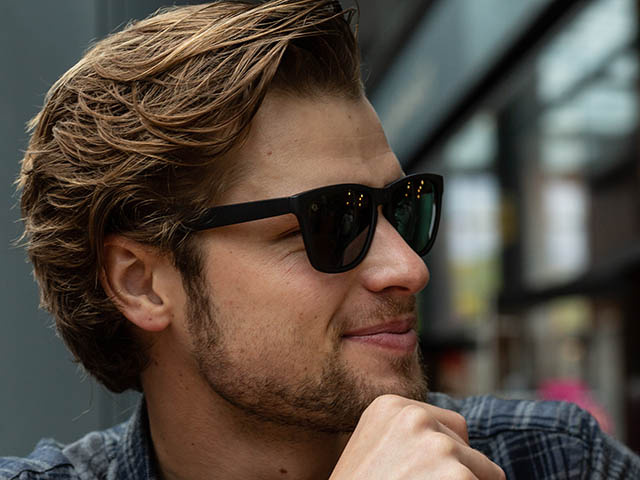 Sunglasses Polarised 'Rockford' Matt Black