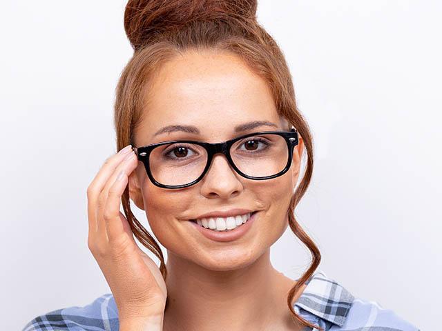 Reading Glasses 'Billi' Shiny Black