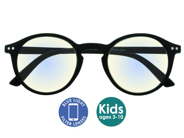 Blue Light Non-Prescription Glasses 'Sydney Kids' Black