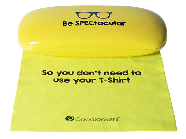 Slogan Case Yellow Cloth