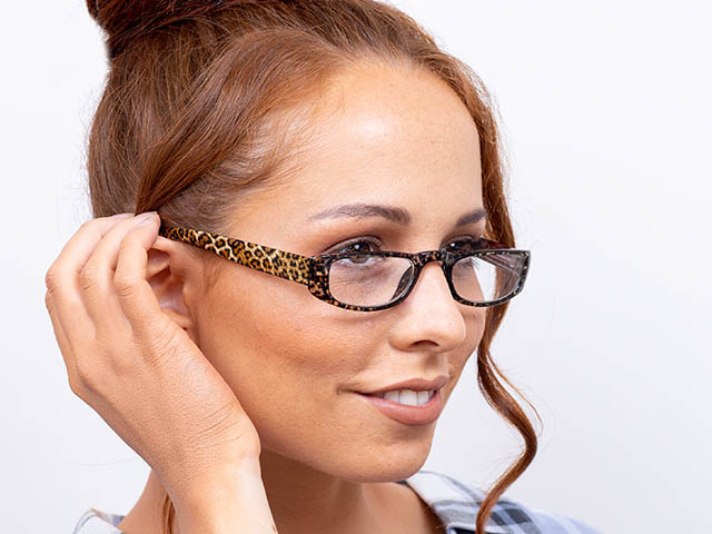 Reading Glasses 'Lexi' Brown Leopard