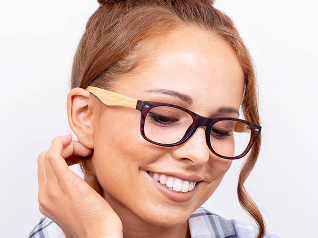 Natural Bamboo Readers 'Oakland' Tortoiseshell