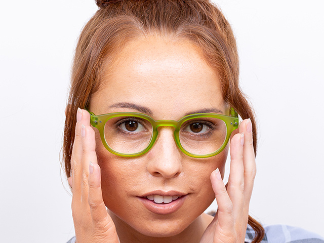 Reading Glasses 'Holiday' Green