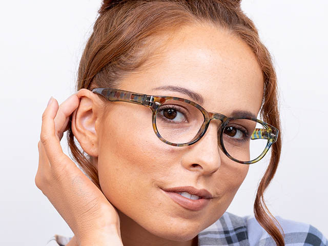 Reading Glasses 'Zest' Yellow/Blue Multi