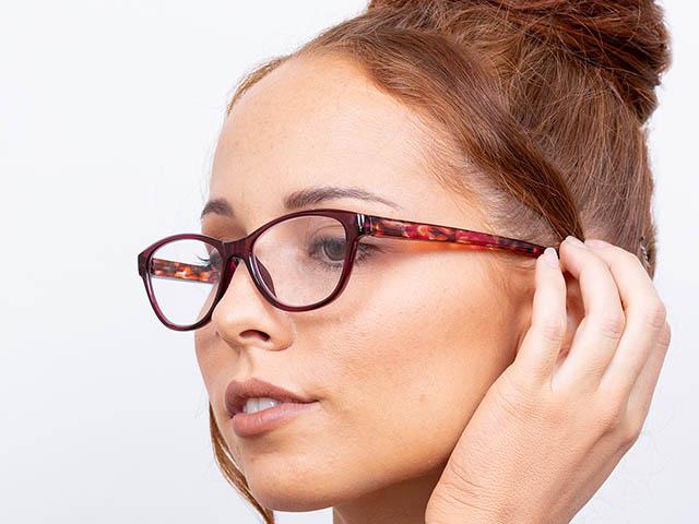 Reading Glasses 'Lucille' Fuchsia