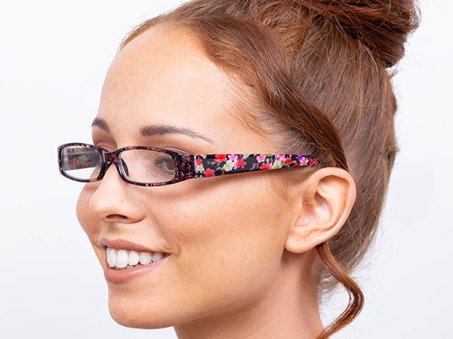 Reading Glasses 'Bette' Pink/Purple Floral