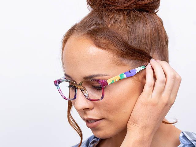 Reading Glasses 'Belle' Pink/Purple