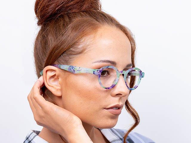 Reading Glasses 'Botanica' Blue Floral